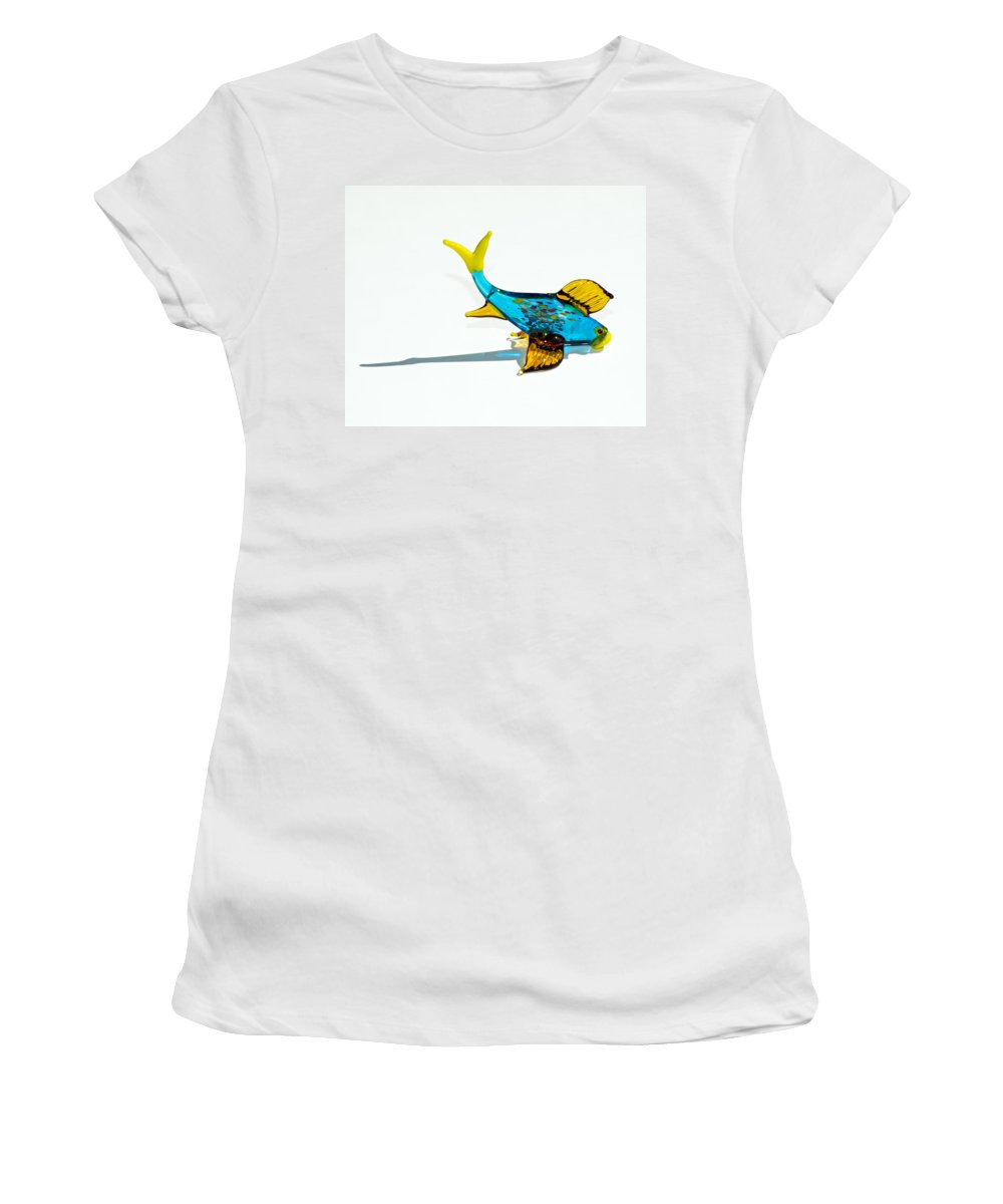 Tropic Women's T-Shirt (Athletic Fit) featuring the photograph Fish Out Of Water by Allan Hughes