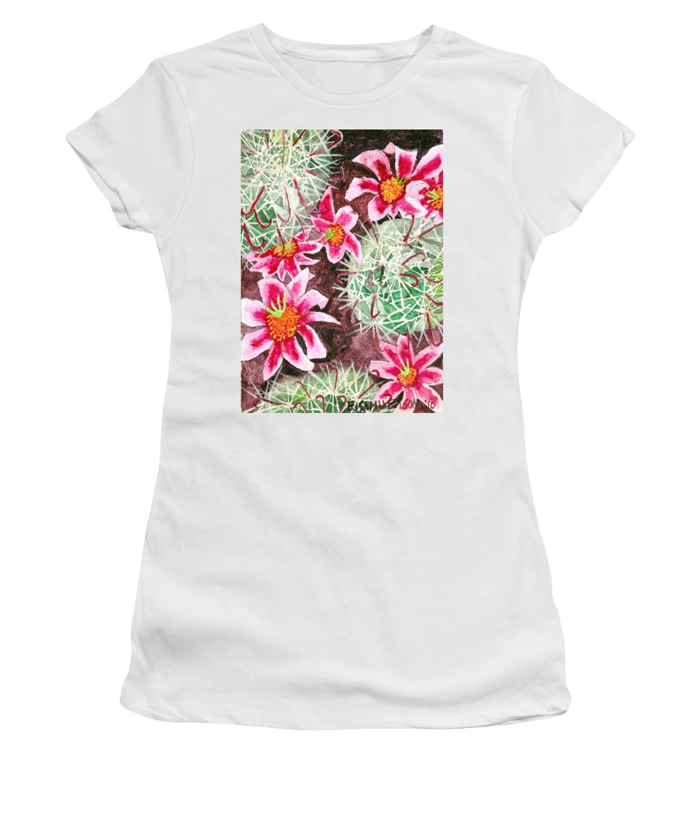 Fishhook Women's T-Shirt (Athletic Fit) featuring the painting Fishhook Beauty by Eric Samuelson