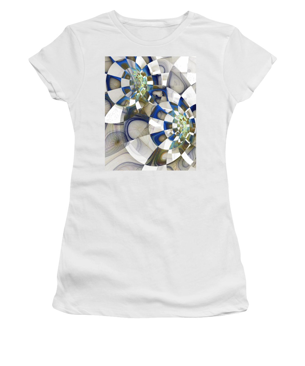 Digital Art Women's T-Shirt (Athletic Fit) featuring the digital art Flight by Amanda Moore