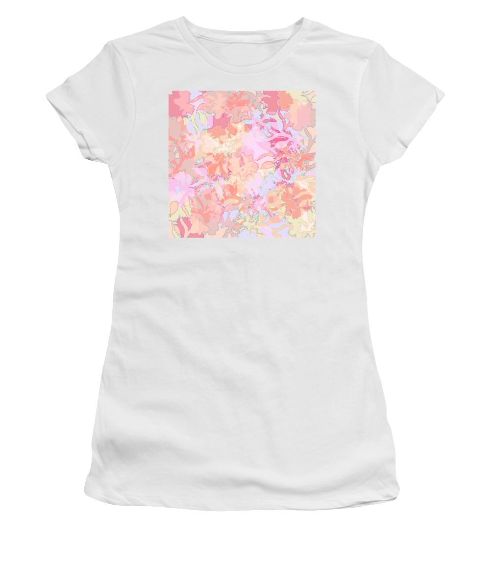 Abstract Women's T-Shirt featuring the digital art Floral Menagerie by Rachel Christine Nowicki