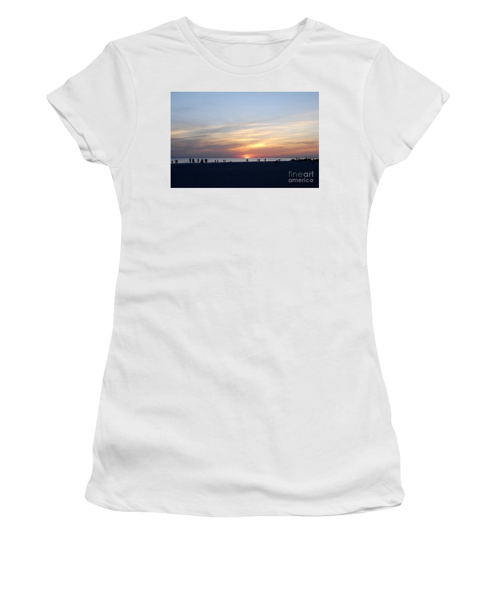 Florida Women's T-Shirt (Athletic Fit) featuring the photograph Florida Sunset by David Lee Thompson