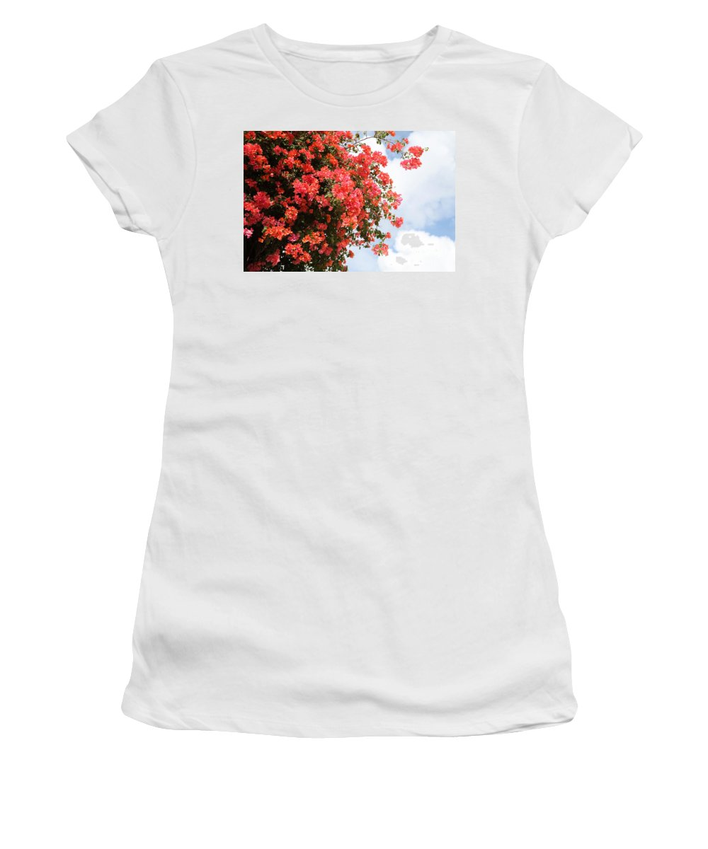 Hawaii Women's T-Shirt (Athletic Fit) featuring the photograph Flowering Tree by Nadine Rippelmeyer