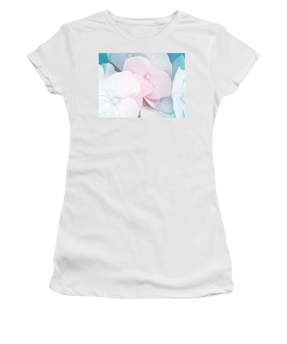 Flowers Women's T-Shirt (Athletic Fit) featuring the photograph Flowers Seasonal by Karen W Meyer