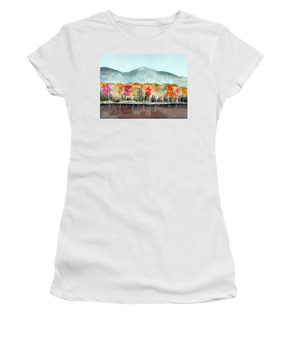 Watercolor Women's T-Shirt (Athletic Fit) featuring the painting Foliage by Brenda Owen
