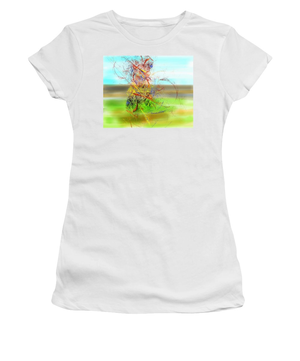 Digital Painting Women's T-Shirt (Athletic Fit) featuring the digital art Fore by David Lane