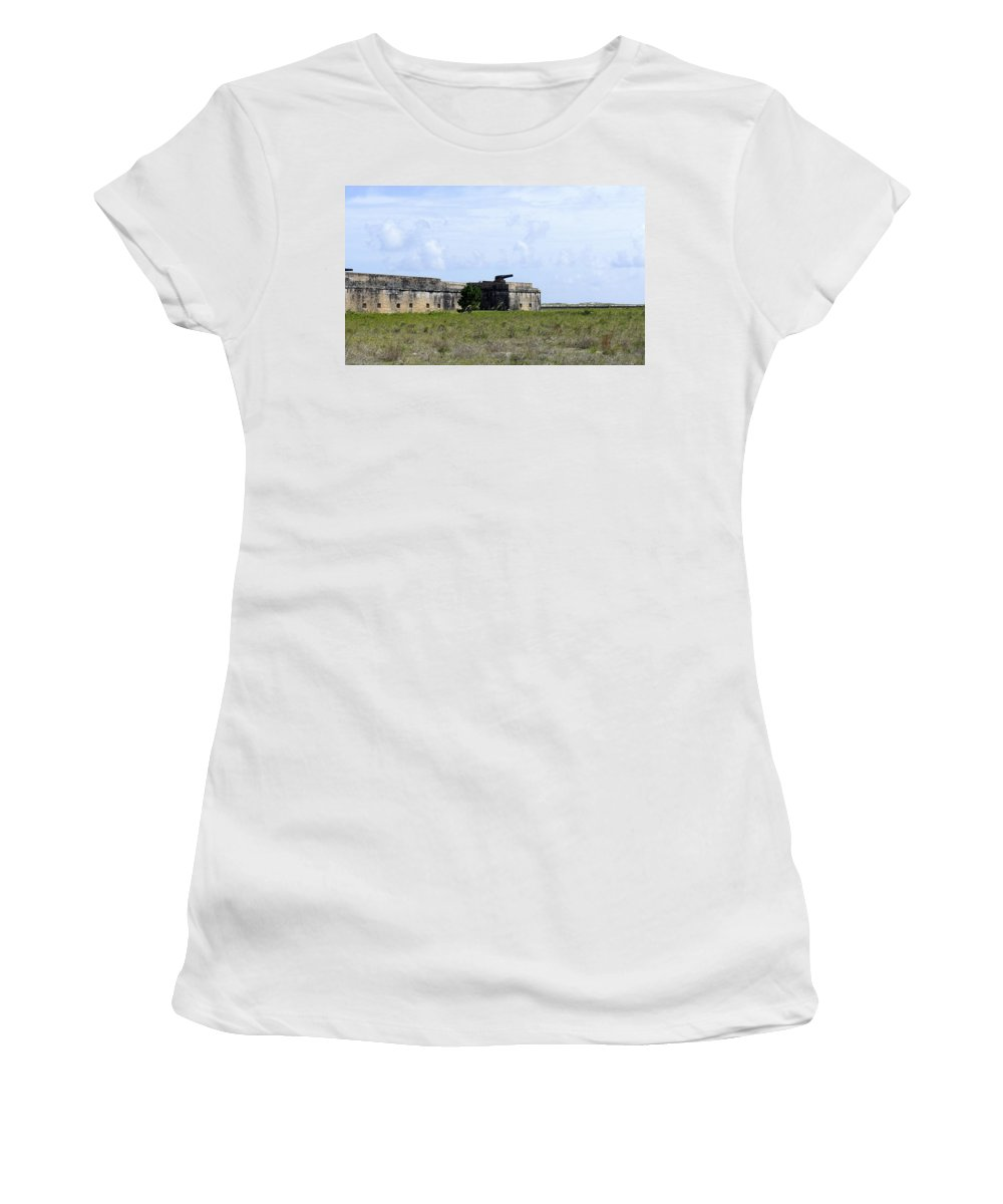 Fort Women's T-Shirt featuring the photograph Fort Pickens by Laurie Perry