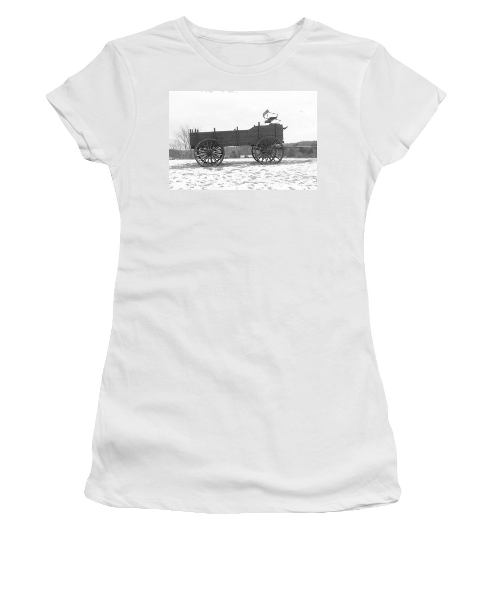 Photography Women's T-Shirt (Athletic Fit) featuring the digital art Four Wheel Drive by Barbara S Nickerson