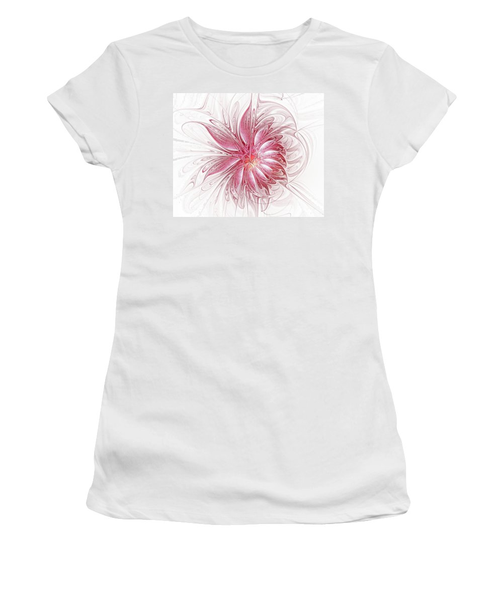 Digital Art Women's T-Shirt (Athletic Fit) featuring the digital art Fragile by Amanda Moore