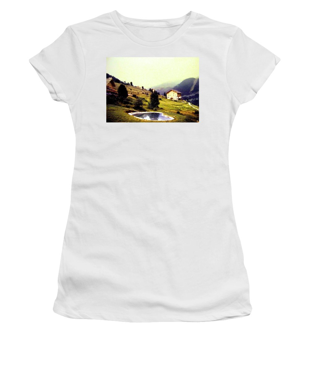 1955 Women's T-Shirt (Athletic Fit) featuring the photograph French Alps 1955 by Will Borden