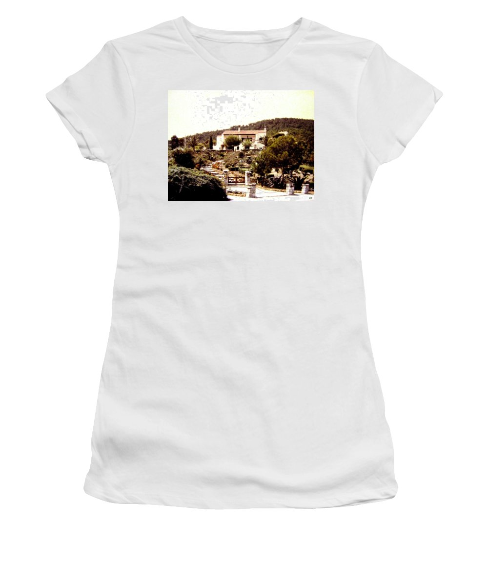 1955 Women's T-Shirt featuring the photograph French Riviera 1955 by Will Borden