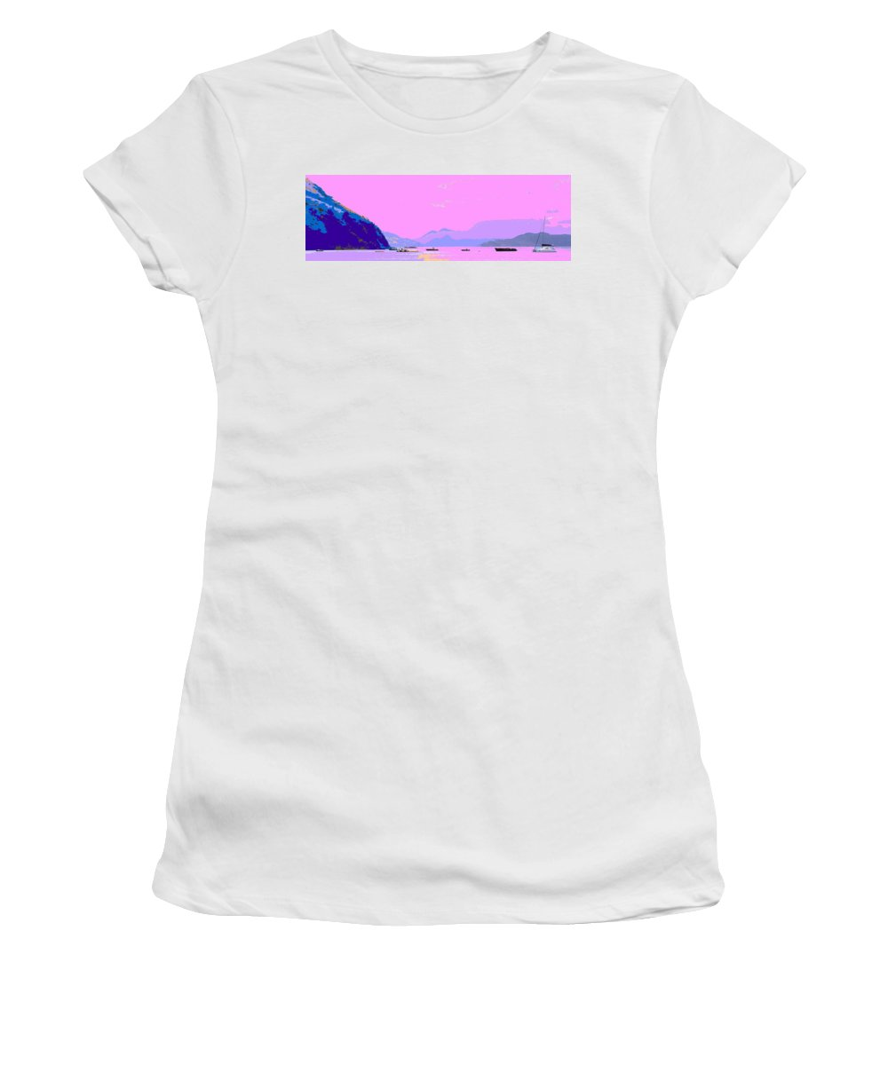 Frigate Women's T-Shirt (Athletic Fit) featuring the photograph Frigate Bay Morning by Ian MacDonald