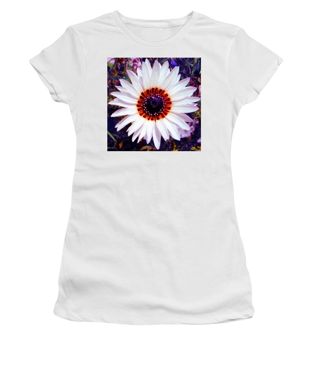 Floral Art Women's T-Shirt (Athletic Fit) featuring the digital art Full Bloom by P Donovan