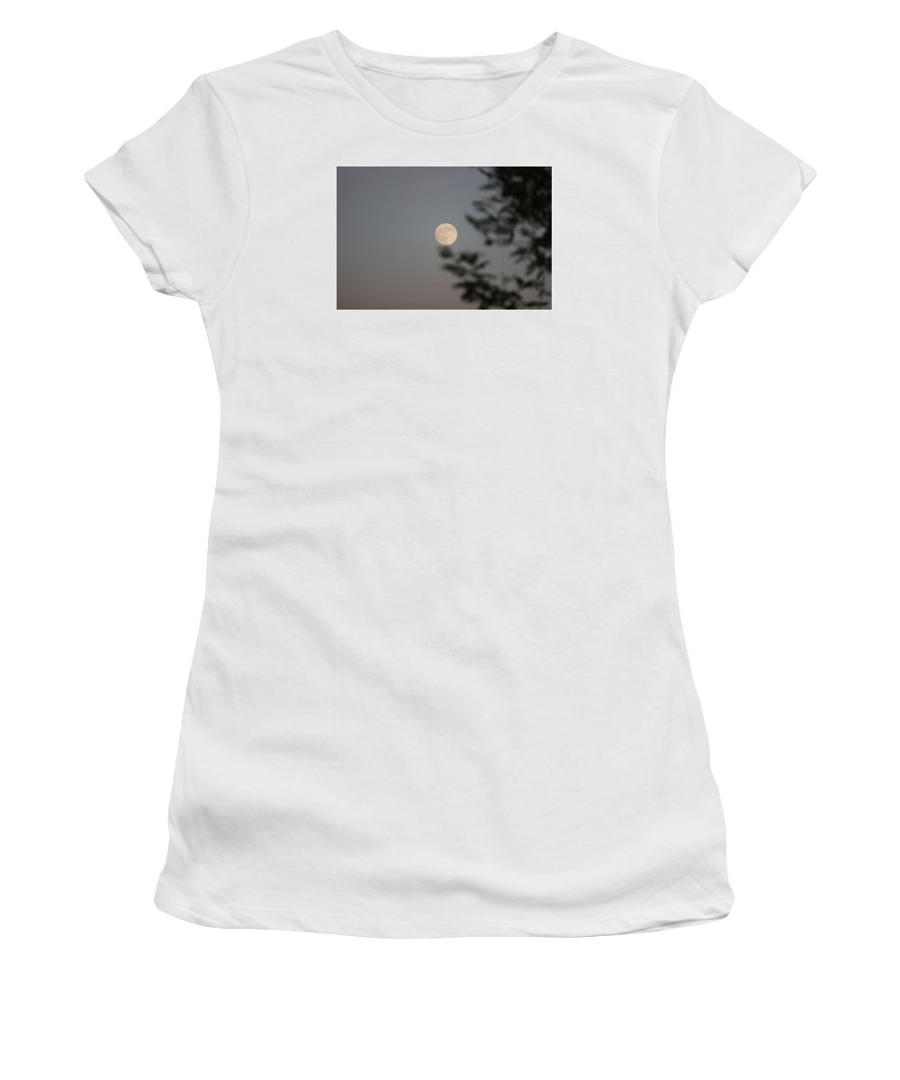 Full Moon Women's T-Shirt (Athletic Fit) featuring the photograph Full Moon by Arturo Pena