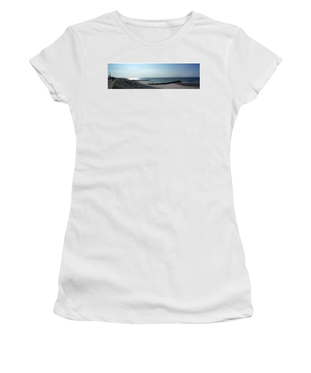 Irish Women's T-Shirt (Athletic Fit) featuring the photograph Galway Bay At Salt Hill Park Galway Ireland by Teresa Mucha