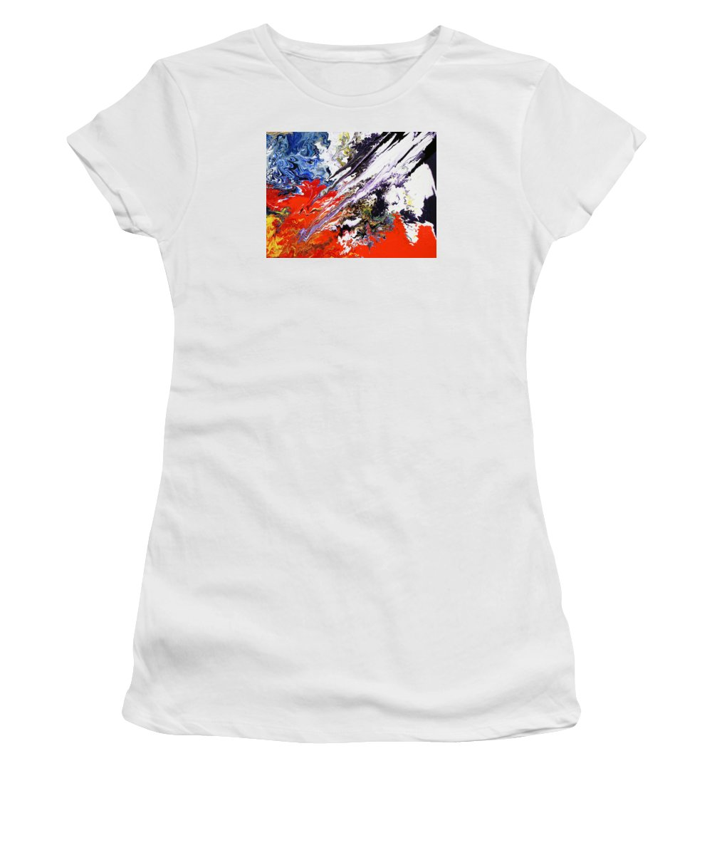 Fusionart Women's T-Shirt featuring the painting Genesis by Ralph White