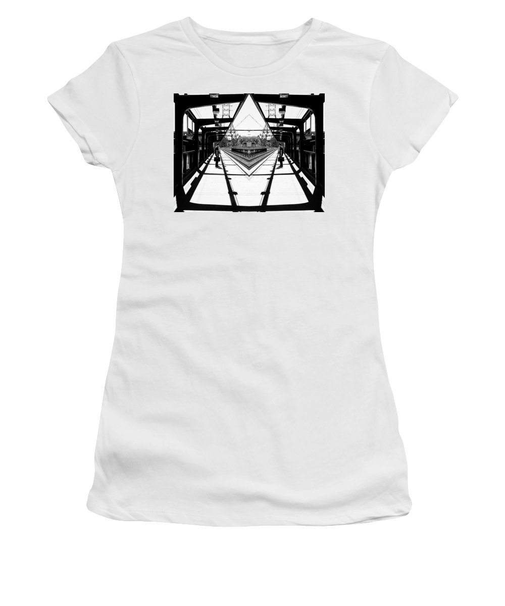 Surrealism Women's T-Shirt (Athletic Fit) featuring the photograph Geometry by Maximilian Mohamed