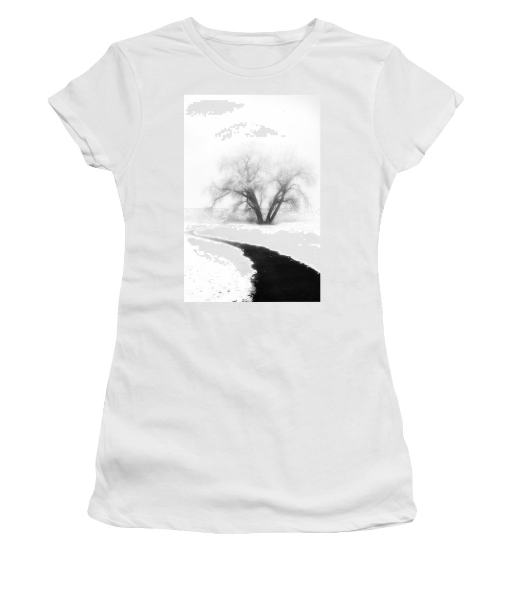 Tree Women's T-Shirt (Athletic Fit) featuring the photograph Getting There by Marilyn Hunt