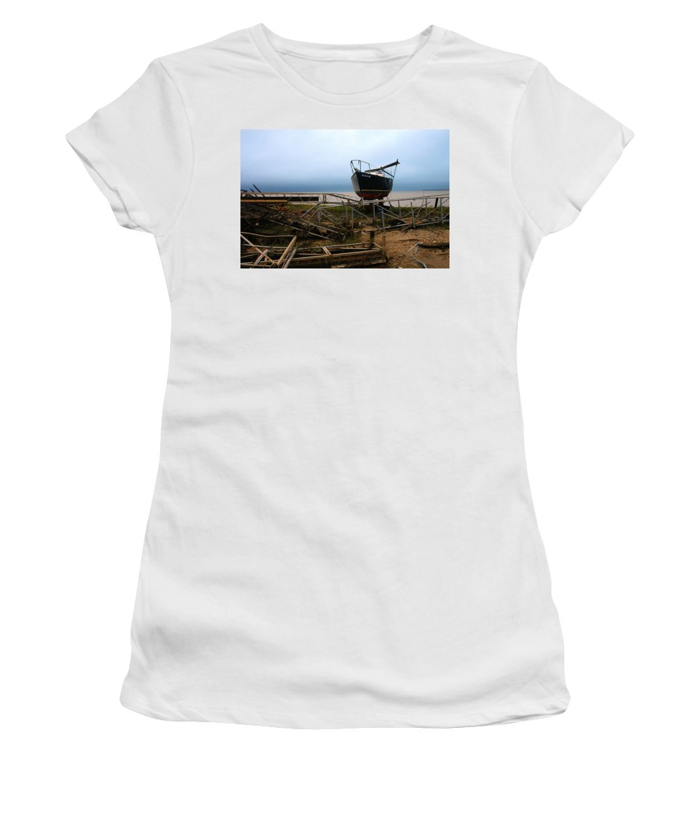 Clay Women's T-Shirt (Athletic Fit) featuring the photograph Ghost by Clayton Bruster
