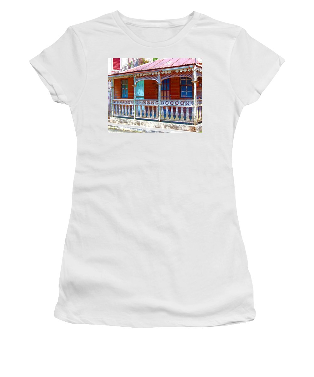 House Women's T-Shirt (Athletic Fit) featuring the photograph Gingerbread House by Debbi Granruth