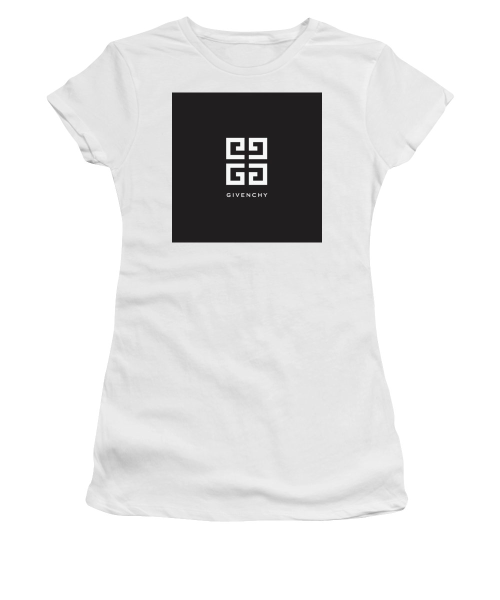 Givenchy Women's T-Shirt featuring the digital art Givenchy - Black And White - Lifestyle And Fashion by TUSCAN Afternoon