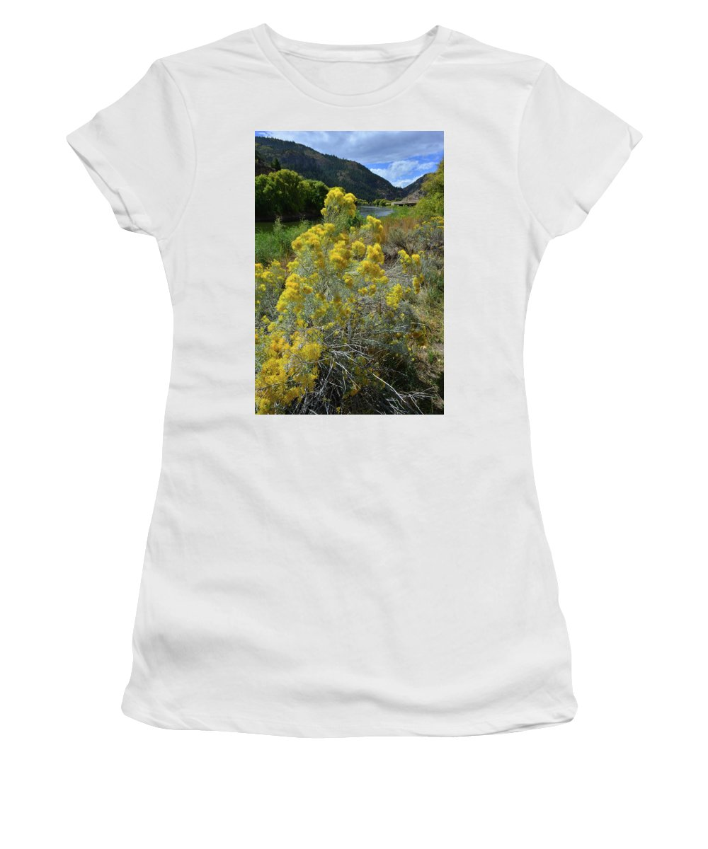 Colorado Women's T-Shirt (Athletic Fit) featuring the photograph Glenwood Canyon by Ray Mathis