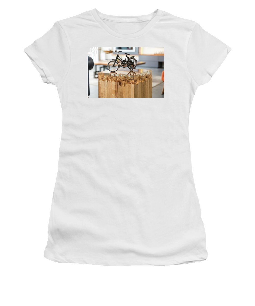 Glossy Women's T-Shirt (Athletic Fit) featuring the glass art Glossy Coffee Table by Gesd Mobilya