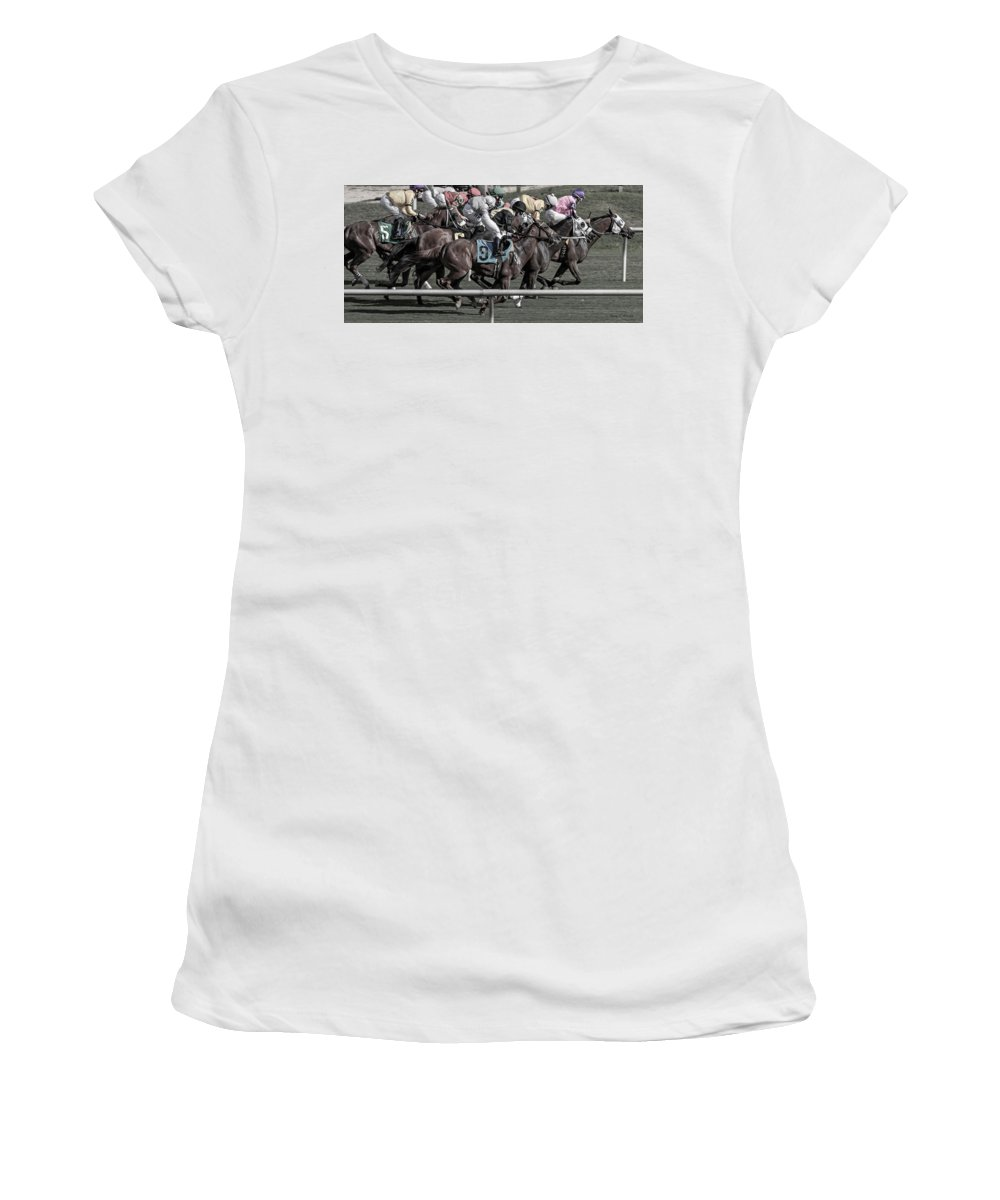 Go Go Go Women's T-Shirt (Athletic Fit) featuring the photograph Go Go Go II by Betsy Knapp