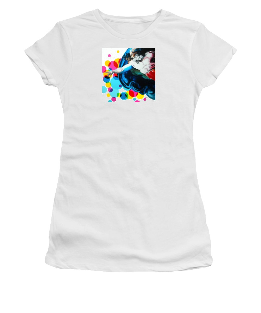 Classic Women's T-Shirt featuring the painting God by Jean Pierre Rousselet
