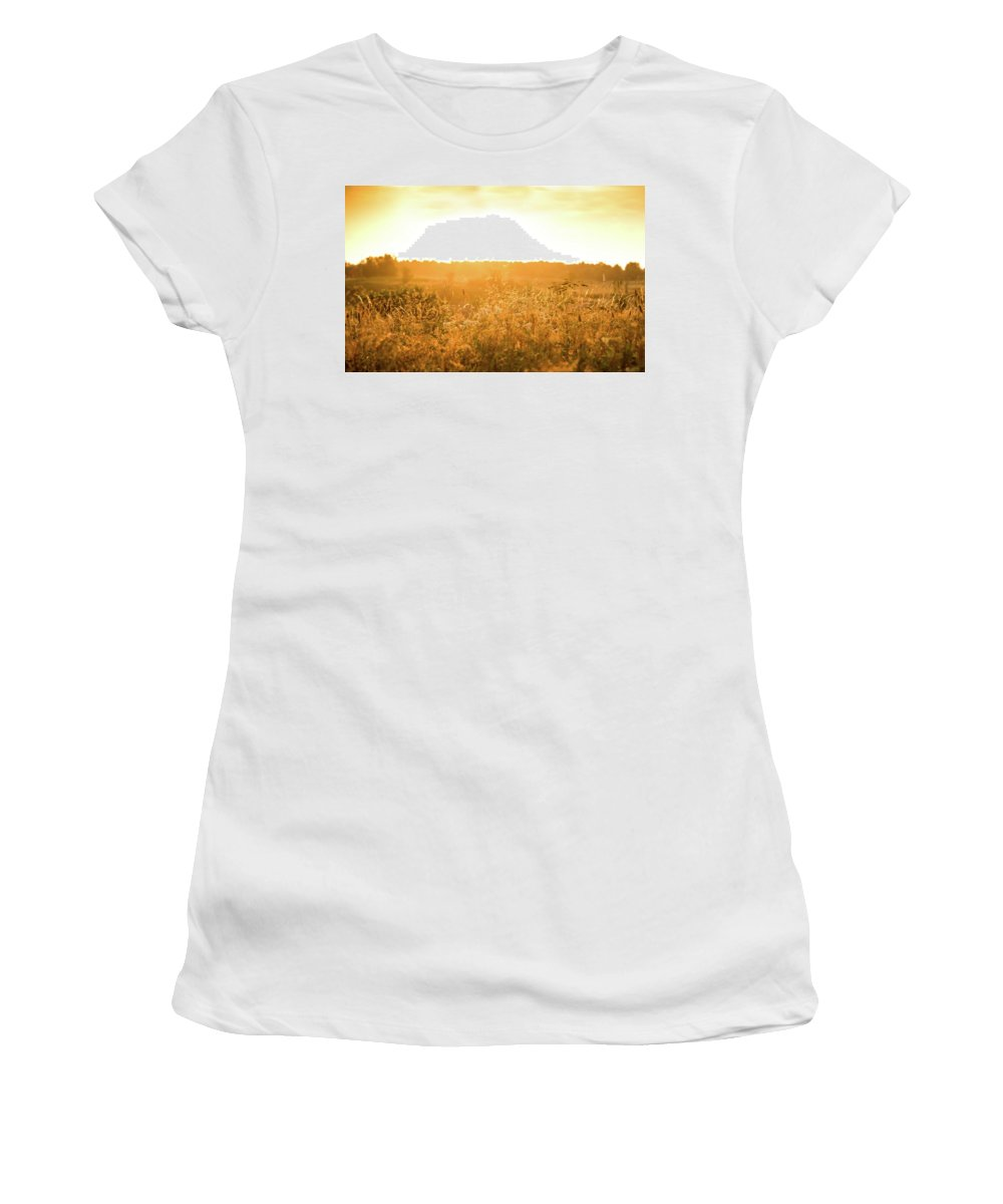 Norway Women's T-Shirt (Athletic Fit) featuring the photograph Golden Glow by Laurent Fox