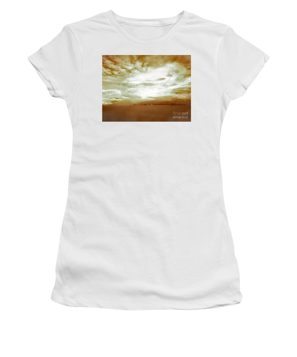 Eva Maria Nova Women's T-Shirt featuring the photograph Golden Whites by Eva Maria Nova