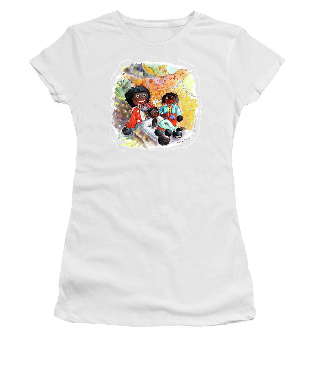 Travel Women's T-Shirt featuring the painting Gollies In Truro by Miki De Goodaboom