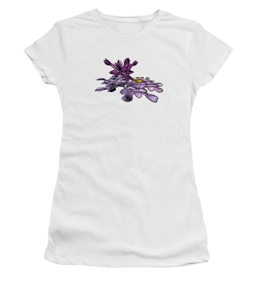 Fractal Women's T-Shirt (Athletic Fit) featuring the digital art Golumphr Castle by Frederic Durville
