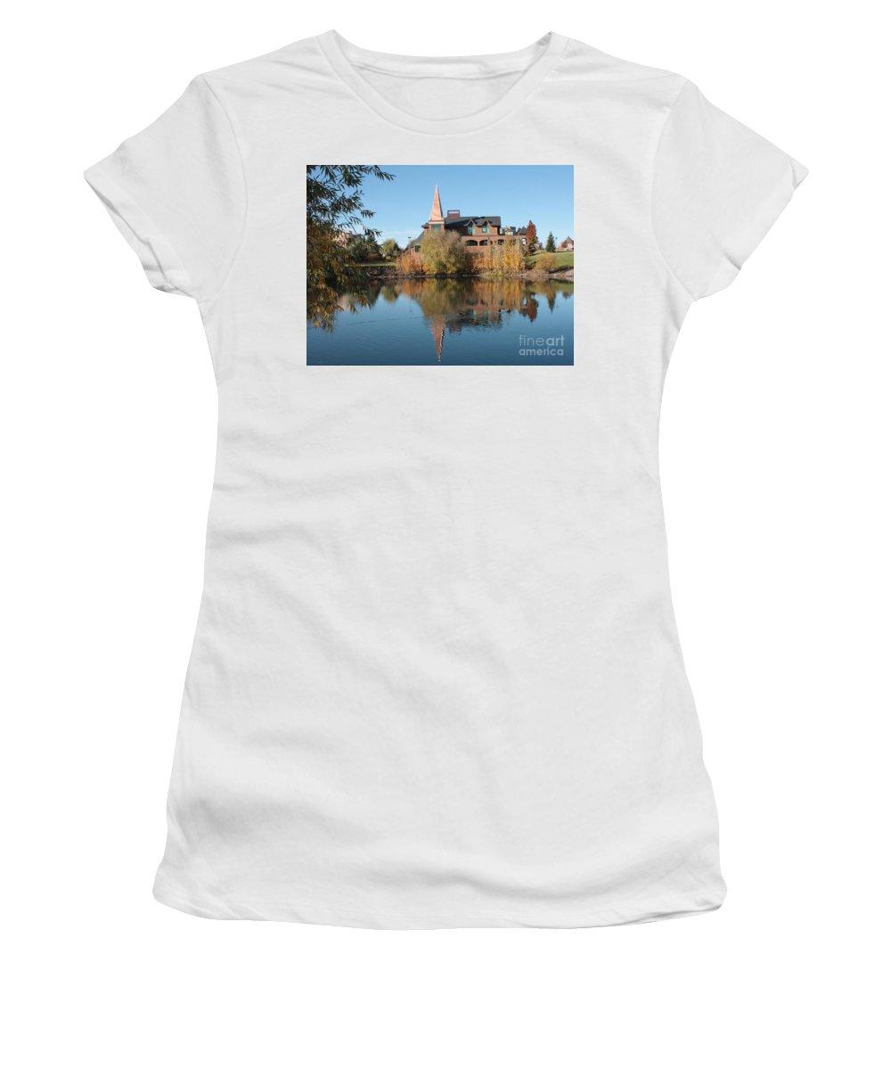Washington Women's T-Shirt (Athletic Fit) featuring the photograph Gonzaga Art Building by Carol Groenen