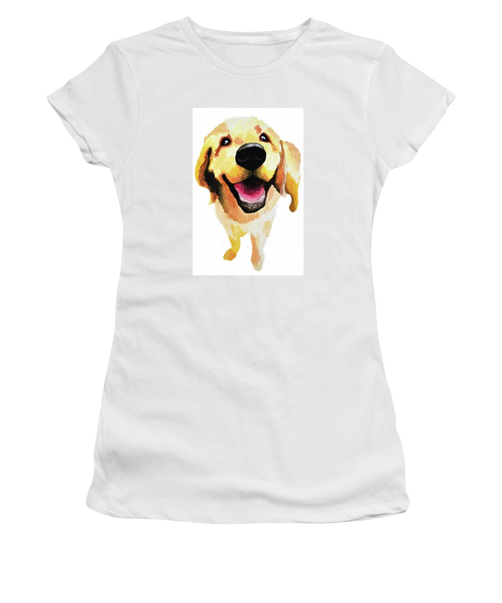 Dog Women's T-Shirt featuring the painting Good Boy by Amy Giacomelli