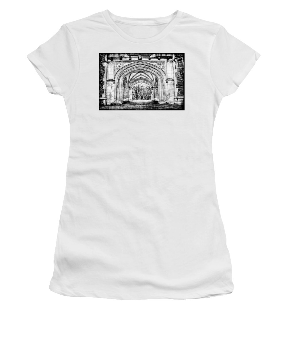 Current Women's T-Shirt (Athletic Fit) featuring the photograph Gothic Architecture At Princeton University Princeton New Jersey by Geraldine Scull
