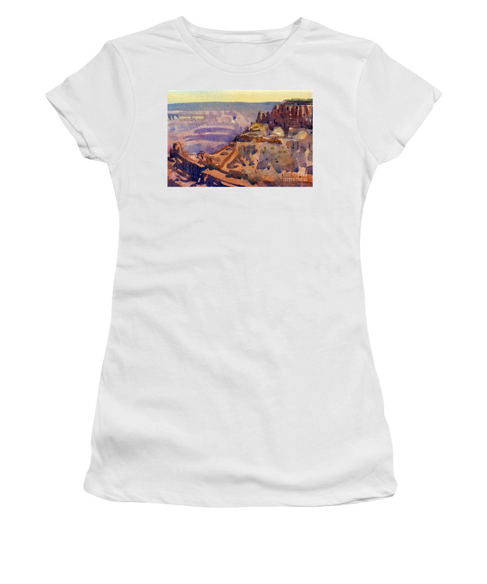 Grand Canyon Women's T-Shirt (Athletic Fit) featuring the painting Grand Canyon 77 by Donald Maier