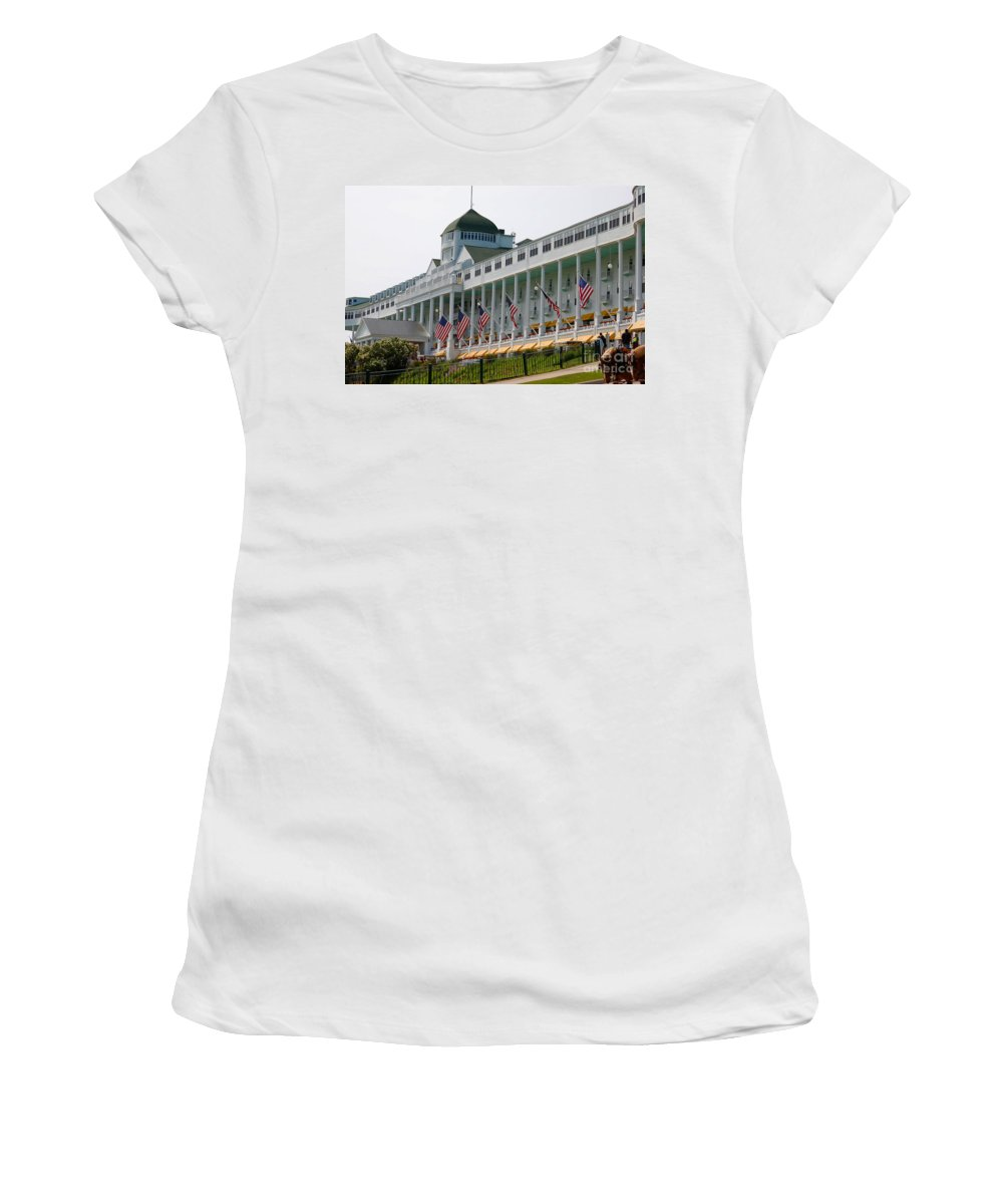 Grand Hotel Women's T-Shirt featuring the photograph Grand Hotel by Elizabeth Stone