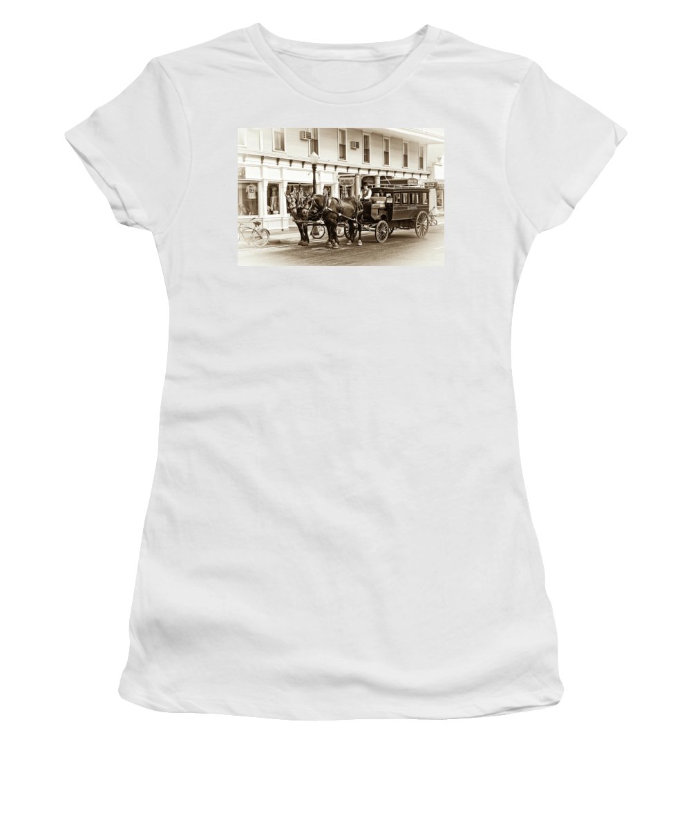 Michigan Women's T-Shirt featuring the photograph Grand Hotel Shuttle 10331 by Guy Whiteley