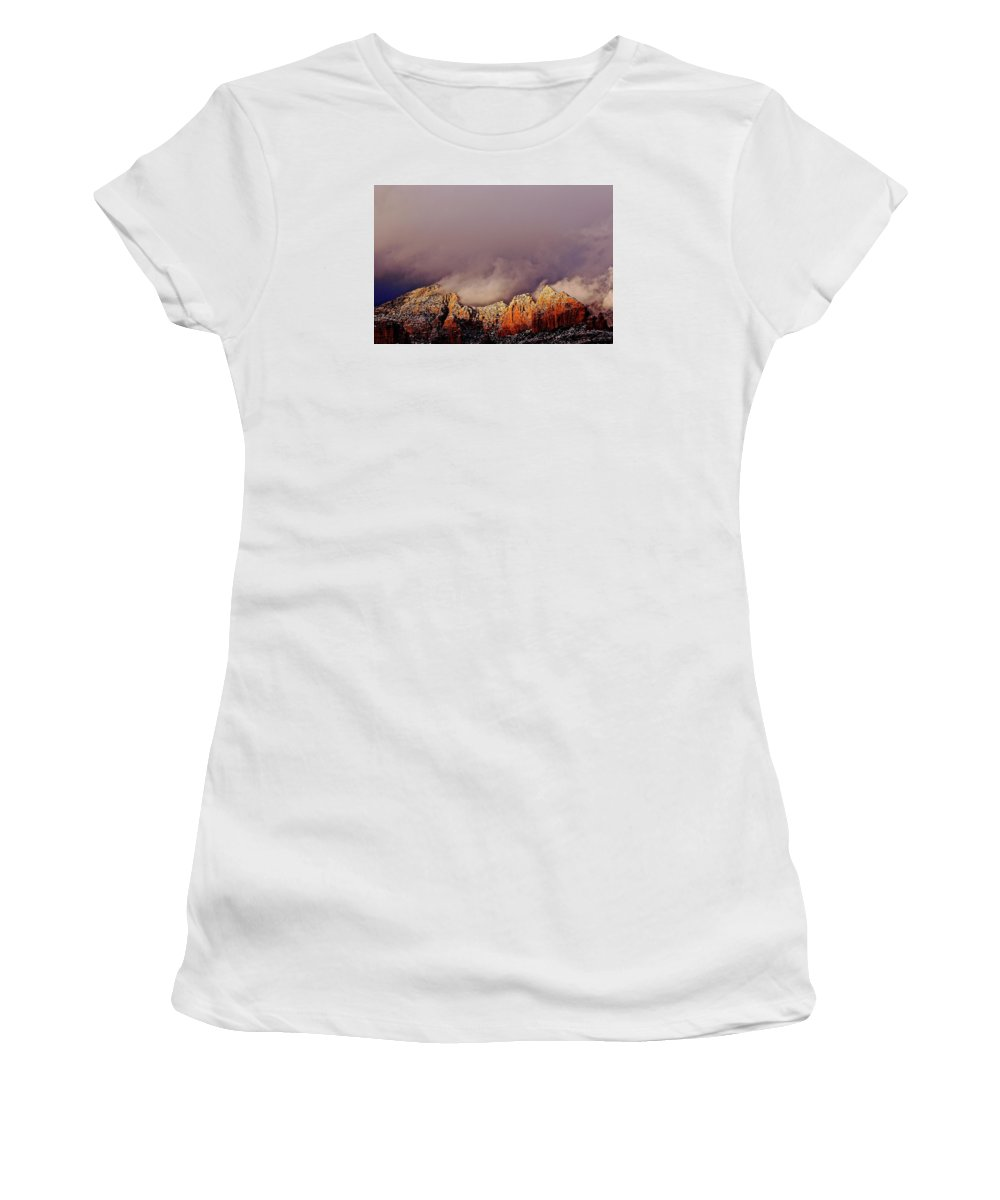 Nature Women's T-Shirt (Athletic Fit) featuring the photograph Grand View Of Sedona,arizona by Markus Eye