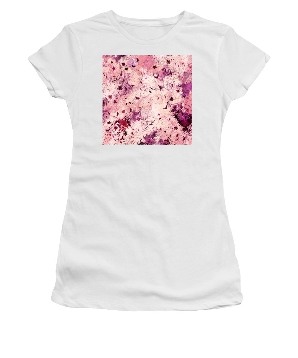 Abstract Women's T-Shirt (Athletic Fit) featuring the digital art Grasping For Stars by Rachel Christine Nowicki