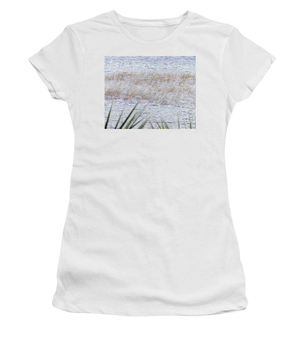 Women's T-Shirt featuring the photograph Grassy Waters by Bruce Gaynor