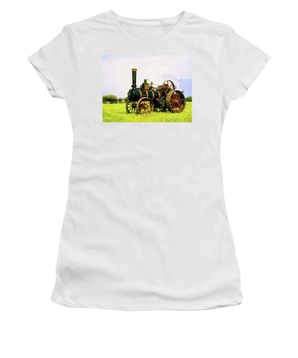 Grazing Women's T-Shirt (Athletic Fit) featuring the mixed media Grazing by Dominic Piperata