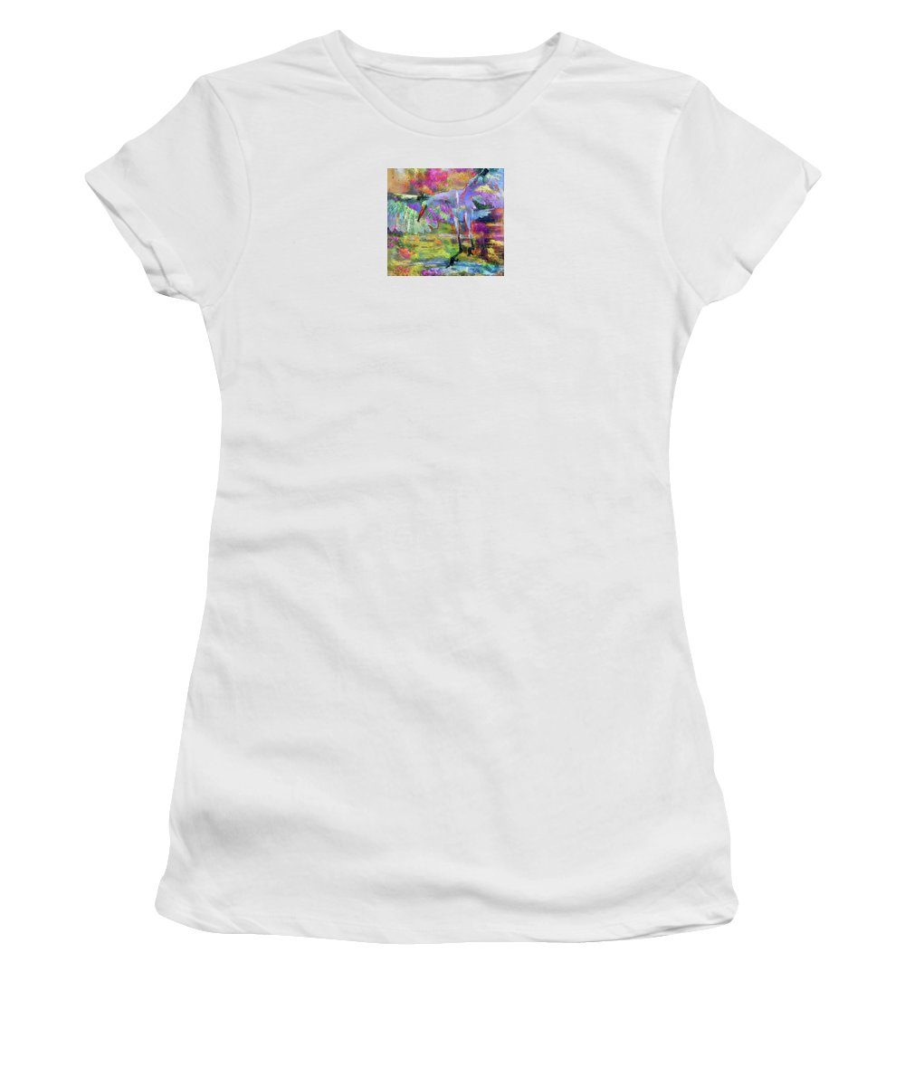 Great Women's T-Shirt featuring the photograph Great Egret Art 072316 by Tam Ryan