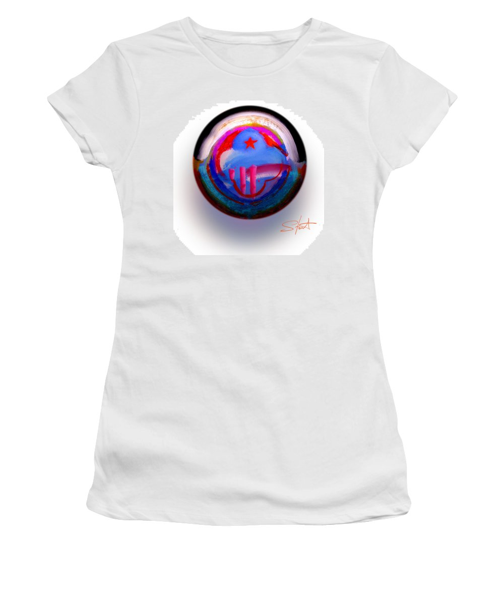9/11 Women's T-Shirt (Athletic Fit) featuring the painting Great Glad Morning by Charles Stuart