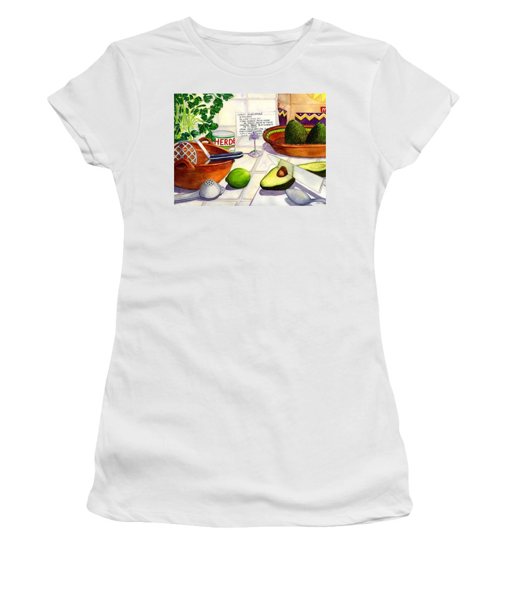Guacamole Women's T-Shirt (Athletic Fit) featuring the painting Great Guac. by Catherine G McElroy
