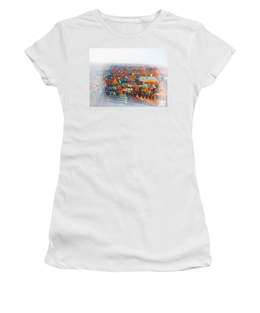Art & Collectibles Women's T-Shirt featuring the digital art Greatest Small Cities In The World by Don Kuing