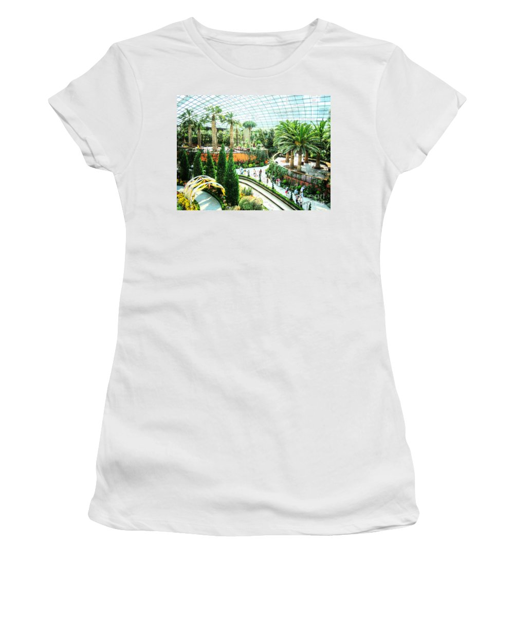 Flower Women's T-Shirt (Athletic Fit) featuring the photograph Greenhouse by Alina Davis