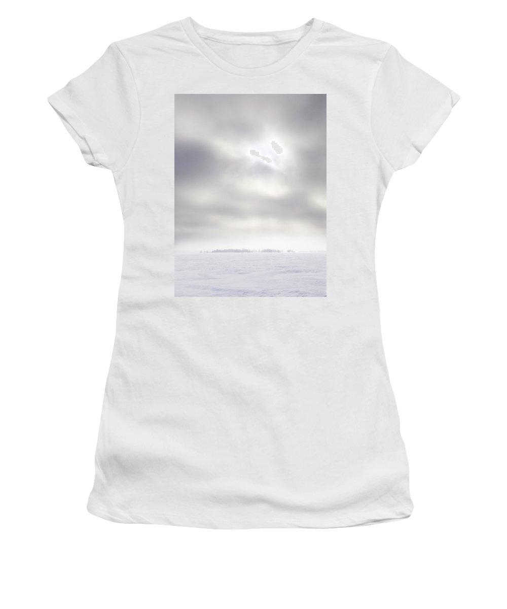 Lehtokukka Women's T-Shirt (Athletic Fit) featuring the photograph Gulf Of Bothnia Variations Nr 19 by Jouko Lehto