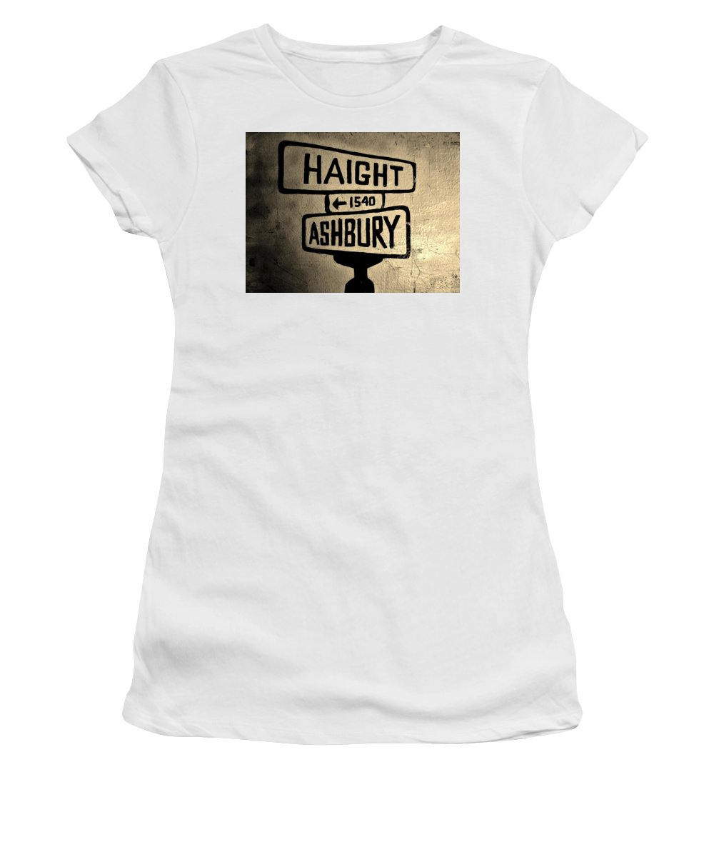 Haight Women's T-Shirt (Athletic Fit) featuring the photograph Haight Ashbury by Dany Lison