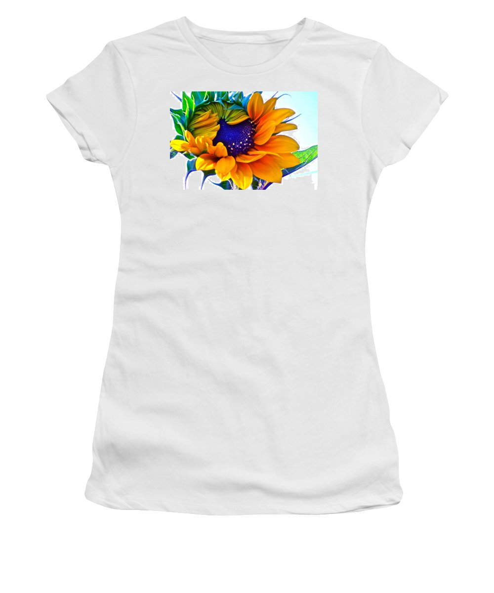 Photographs Women's T-Shirt (Athletic Fit) featuring the photograph Half-awake by Gwyn Newcombe
